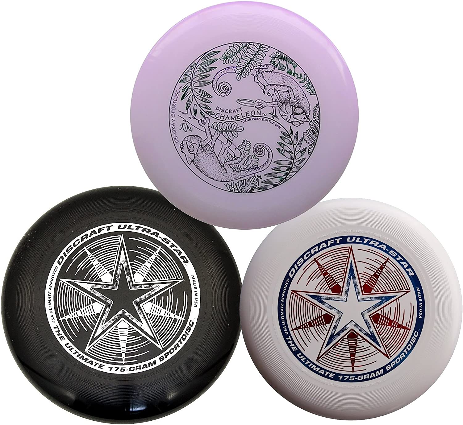 Discraft 175 g Ultimate Discバンドル(3 Discs) 白い, 黒 & Ultraviolet