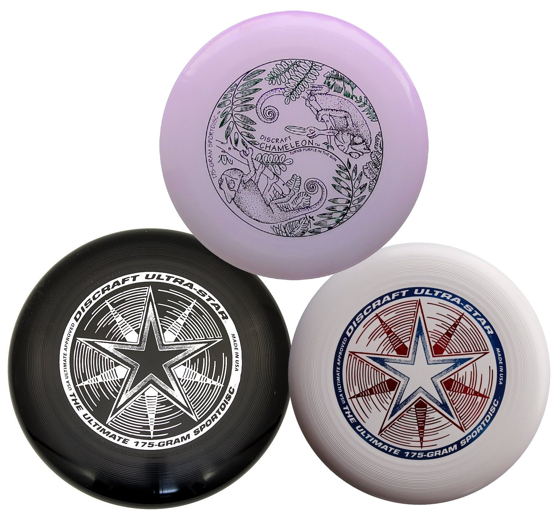 Discraft 175g Ultimate Disc Bundle - Black, White and Ultraviolet (3 Discs) by Discraft