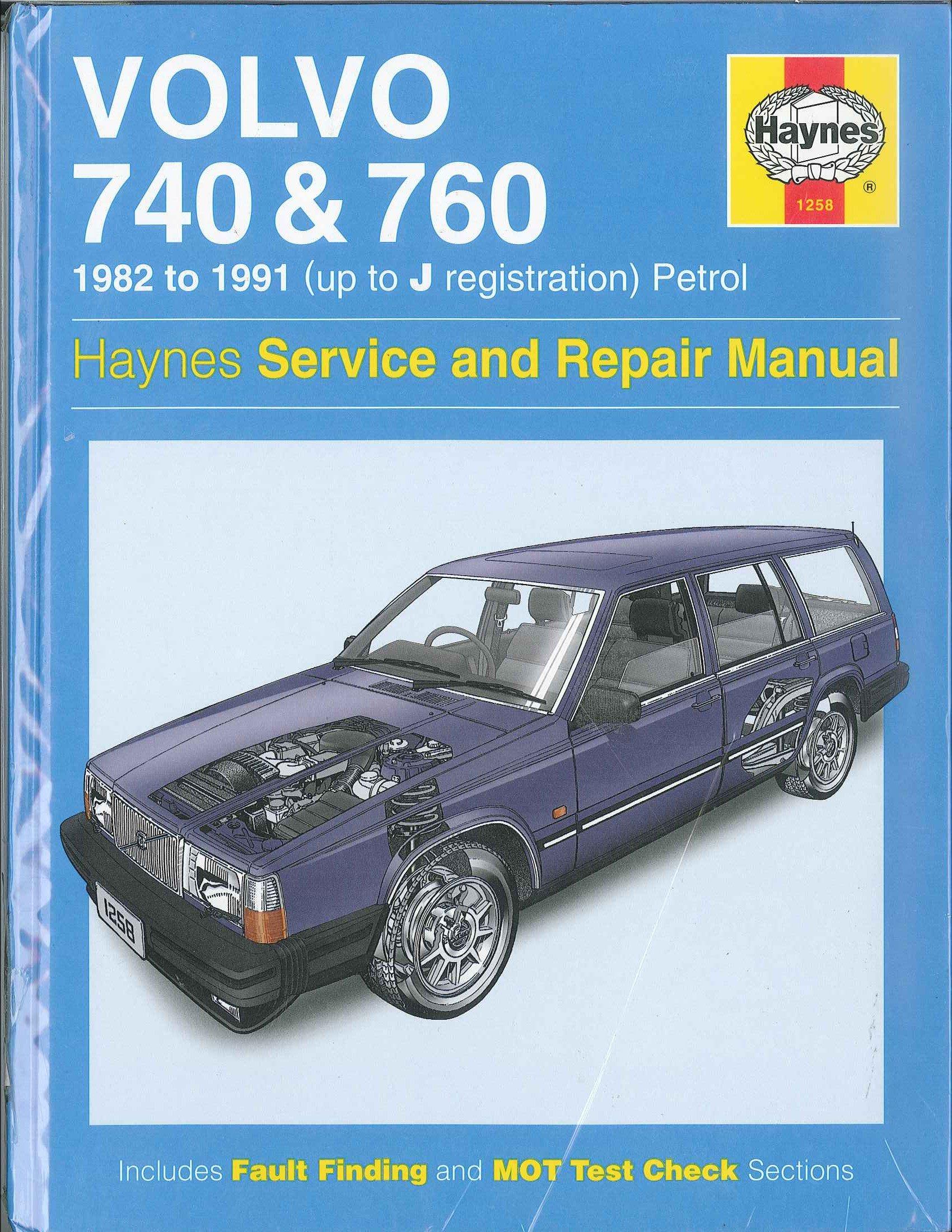 Volvo 740 and 760 (Petrol) 1982-89 Owner's Workshop Manual: Matthew Minter:  9781850105404: Amazon.com: Books