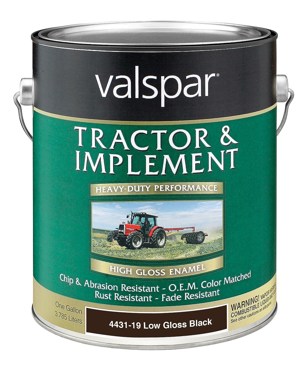 Amazon com valspar 4432 16 gloss black tractor and implement paint 1 quart automotive