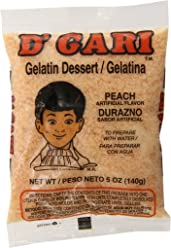 DGari Gelatin Dessert, Peach, 5 Ounce (Pack of ...