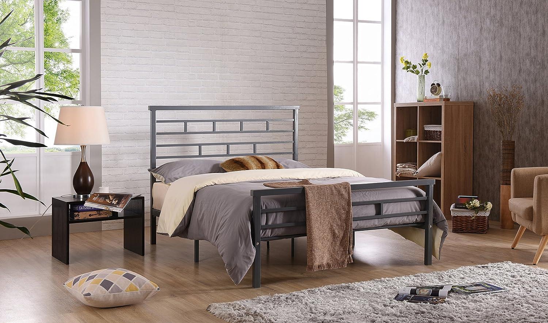 Amazon.com: hodedah Importación metal cama: Kitchen & Dining