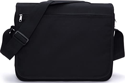 "MIER Unisex Laptop Messenger Bag For 15.6"" Computer Shoulder Crossbody Bag for Work and School, Multiple Pocket, Update Black"