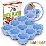 KIDDO FEEDO Conservazione della Pappa per Bambini - Il Vassoio Contenitore per Freezer con Coperchio Rimovibile - Diversi Colori Disponibili - Blu