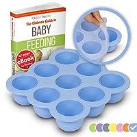KIDDO FEEDO Conservazione della Pappa per Bambini – Il Vassoio Contenitore per Freezer con Coperchio Rimovibile – Diversi Colori Disponibili – Senza BPA e Approvato dall'FDA