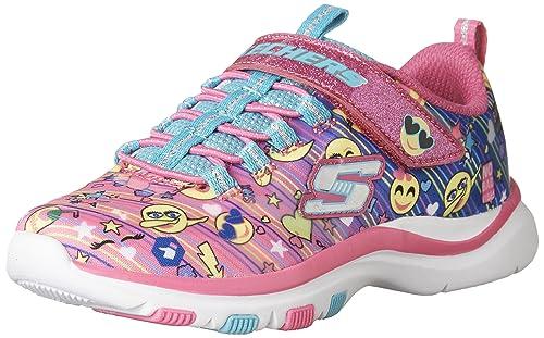 Skechers Trainer Lite-Happy Dancer, Zapatillas sin Cordones para Niñas: Amazon.es: Zapatos y complementos