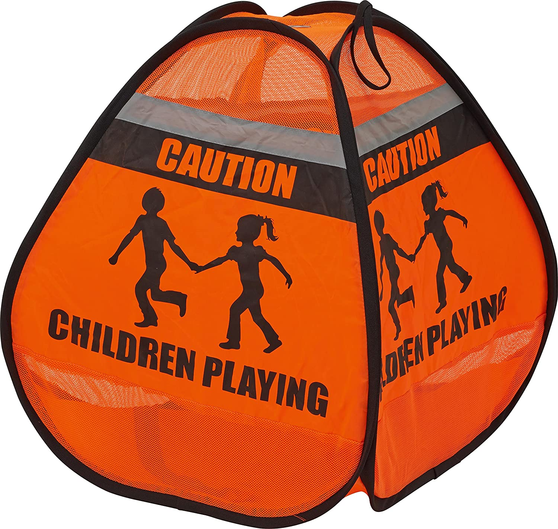 ABUS Junior Care 73130 3D-Warnzelt Luke JC6464, orange