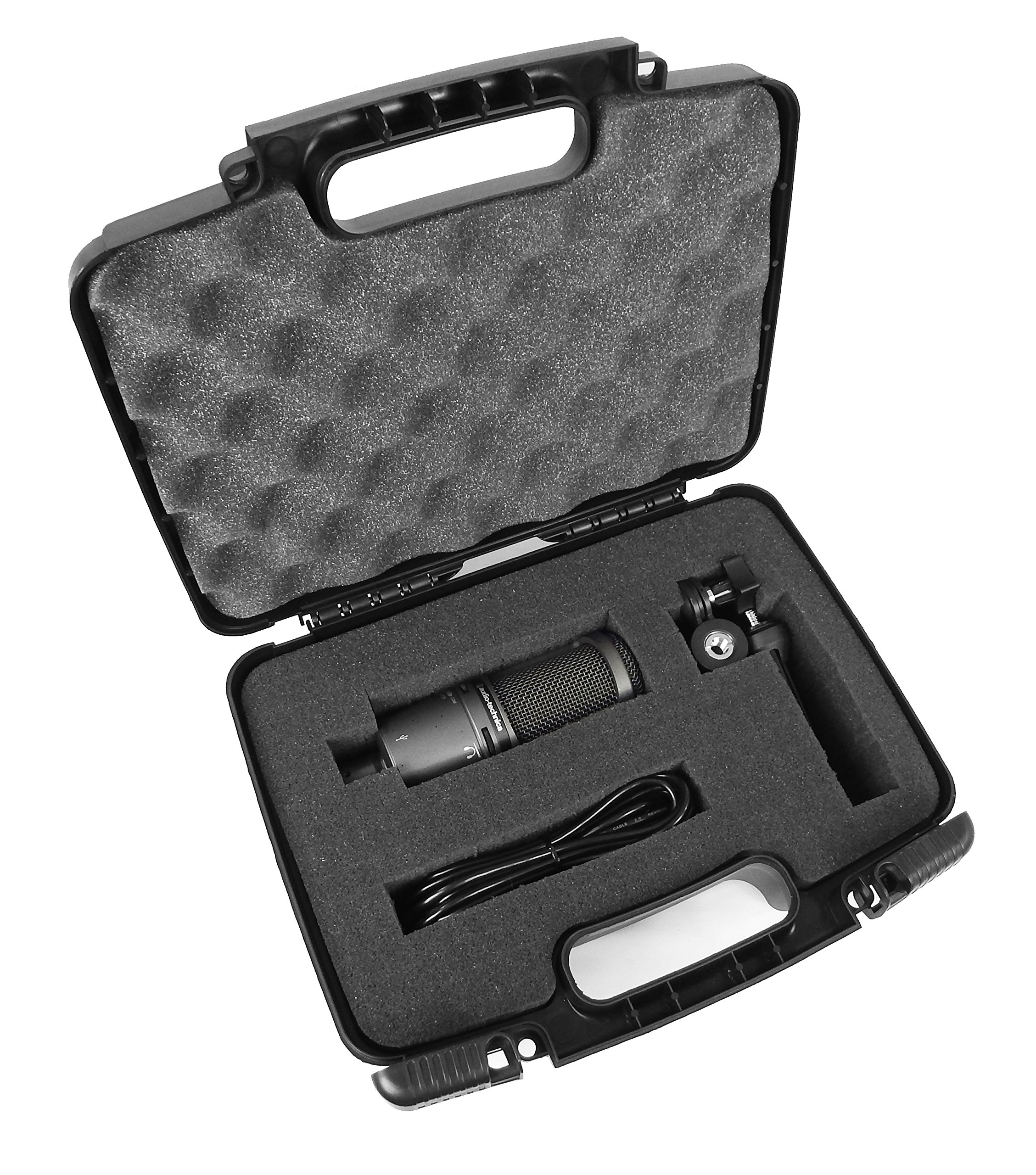 TOUGH Condenser Microphone Hard Case with Dense Foam for MXL Microphones - Fits MXL 770 / 990 / 550 , 551R / 440 / 4000 / MCA-SP1 / MXL USB 006 , USB 008 , USB 009 , MXL Studio 24 USB / V67G / V87 / V250 / V69MEDT - Fits Microphone and Accessories by Distro-Tech (Image #1)
