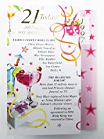21 Today 1997 Special Year Born Happy Birthday Card Facts Quality Her Verse Card