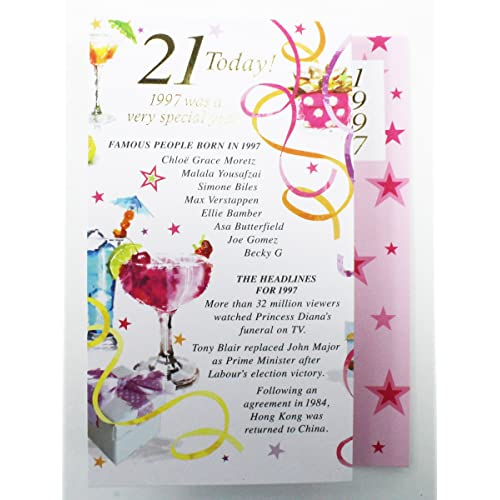 Personalised 21st Birthday Cards Amazon