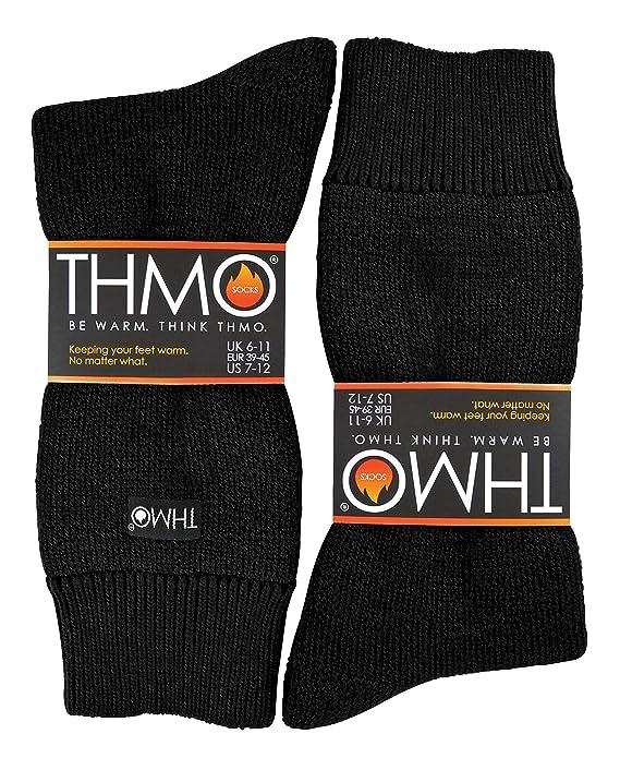 Sock Snob THMO - Hombre Invierno Calcetines Termicos sin Costuras (39/45, 19 Black): Amazon.es: Ropa y accesorios