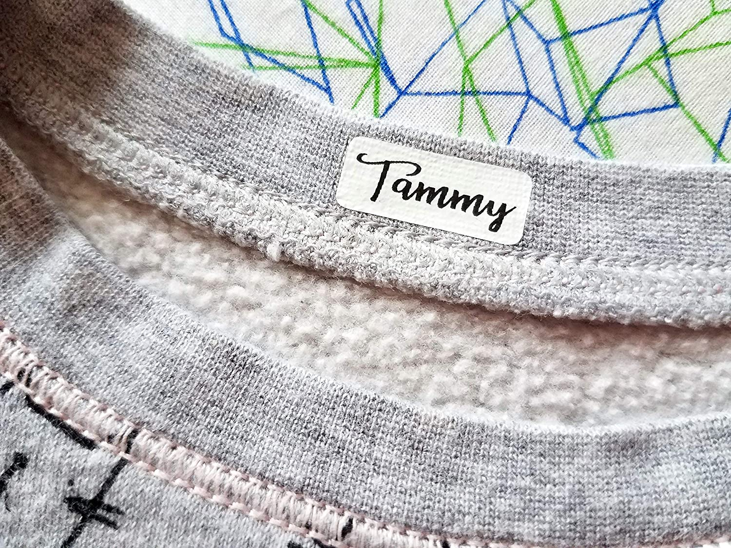 Amazon.com: 48 Small Size White Fabric Labels Clothing Label - Iron On  Labels - Sew on Sewing label - Cloth Label: Handmade