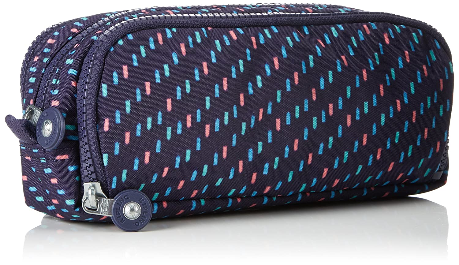 Kipling Gitroy Pencil Cases, 23 cm, 1 liters, Multicolour (Blue Dash C)