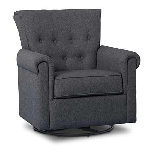 Delta Children Harper Glider Swivel Rocker Chair, Charcoal