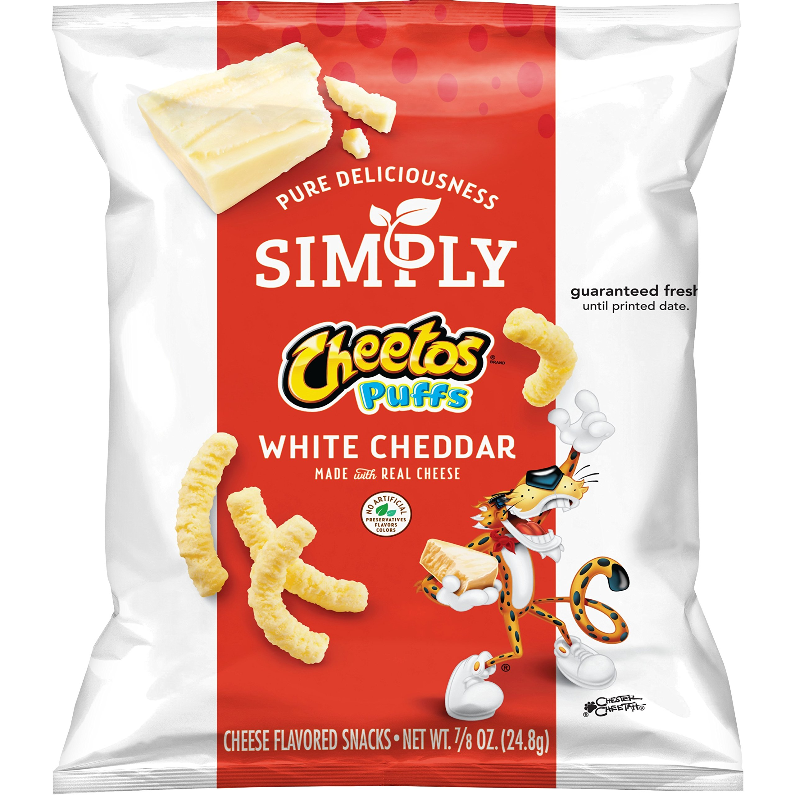 Simply Cheetos Puffs White Cheddar Cheese Flavored Snacks, 36 Count by Simply