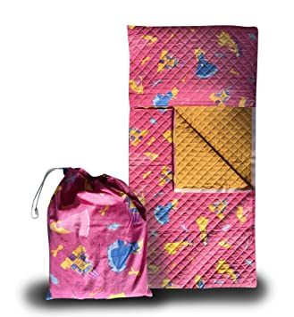 Panini Tessuti - Juego de guardería, saco de dormir y bolsa guardería, para niños de 2 a 6 años Principesse Fuxia: Amazon.es: Bebé