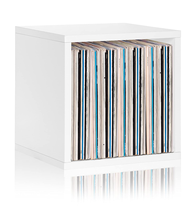 Vinyl Record Storage Cube Extra Large Stackable LP Record Album Shelf, Espresso Way Basics BS-SCUBE-EO