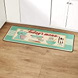 Retro Kitchen Rug with Novelty Sayings - Nostalgic Home Accents