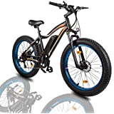 "ECOTRIC 26""Powerful Fat Tire Electric Bicycle Mountain Bike 500W Motor 36V/13AH Removable Lithium Battery Ebike Beach…"
