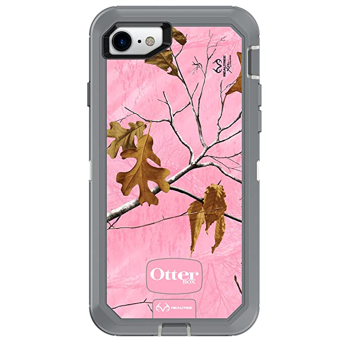 quite nice db38e b6a1e OtterBox DEFENDER SERIES Case for iPhone 8 & iPhone 7 (NOT Plus) - Retail  Packaging - REALTREE XTRA PINK (WHITE/GUNMETAL GREY/XTRA PINK DESIGN)
