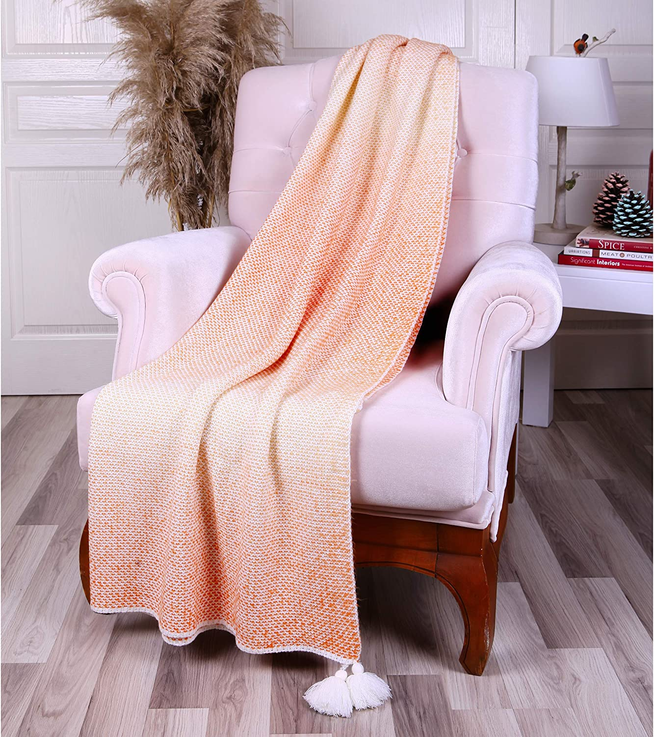 Betires Home Turkish Throw Blanket - Soft, Warm, Breathable Knitted Cover for Couch, Bed, Decor, 51x67