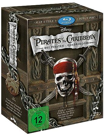 Pirates Of The Caribbean Die Piraten Quadrologie 5 Blu Rays Blu