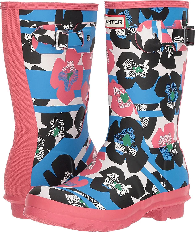 Hunter Womens Original Floral Stripe Short Rain Boot B079HK7YDQ 7 B(M) US Floral Stripe/Peony