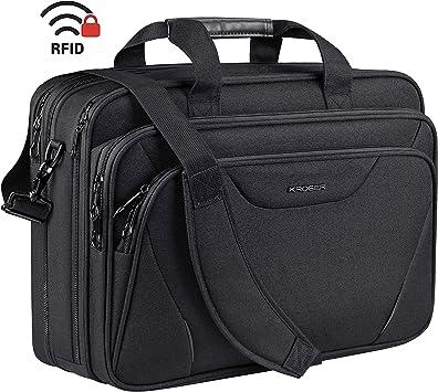 Men Genuine Leather 17/'/' Laptop Briefcase Work Travel Duffle Garment Suitcase