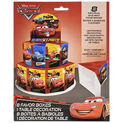 Disney Cars Favor Box Centerpiece Decoration for 8: Toys & Games