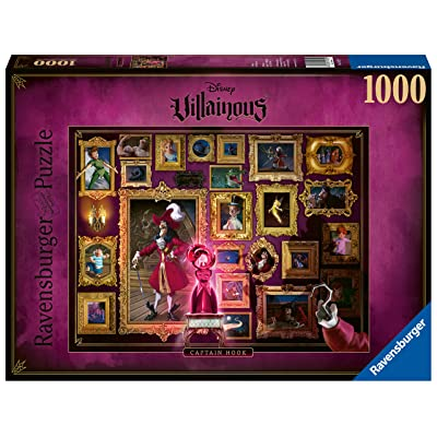 Ravensburger Disney Villainous Captain Hook 1000 Piece Jigsaw Puzzle for Adults – Every Piece is Unique, Softclick Technology Means Pieces Fit Together Perfectly: Toys & Games