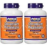 Now Foods Chromium Picolinate 200mcg-250 Capsules- 2-pack