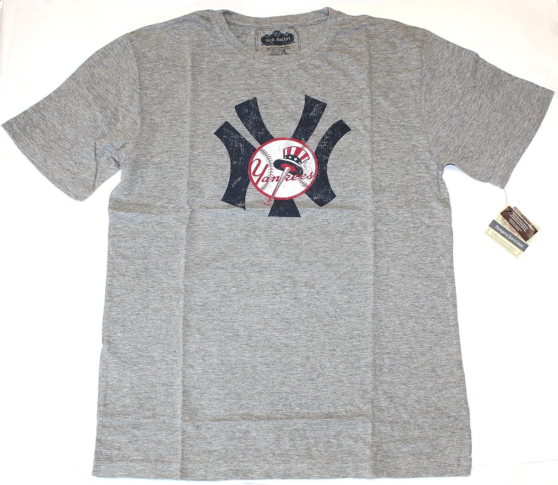 MLB New York Yankees latón camiseta tachuelas estilo Vintage de color rojo chaqueta, Heather Gray: Amazon.es: Deportes y aire libre