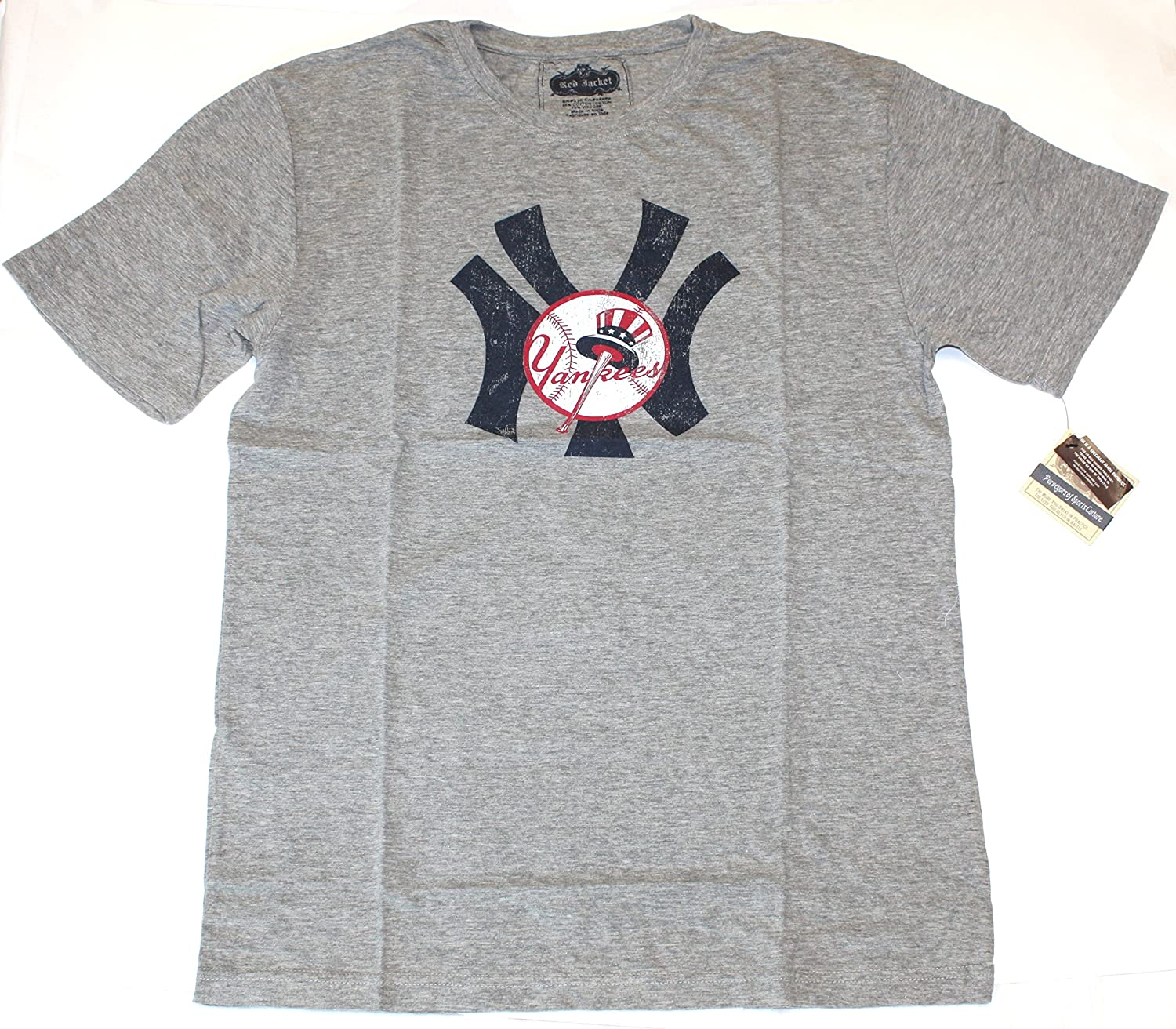 Amazon.com   Red Jacket MLB New York Yankees Brass Tacks Vintage Style T- Shirt   Sports   Outdoors af4dc5d3319
