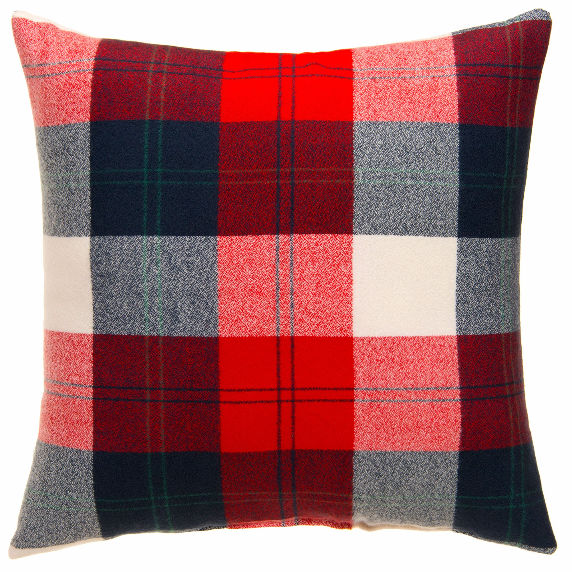 Camp River Rock Navy and Red Plaid Throw Pillow by Glenna Jean by Glenna Jean (Image #1)