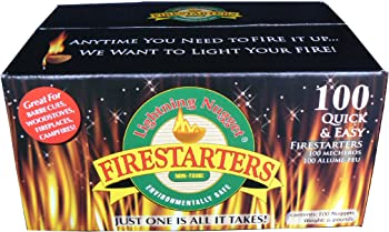 100 Count Lightning Nugget Outdoor Fire Pits Firestarter Nuggets