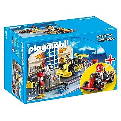 Playmobil 6869 - Jeu - Atelier de Karting