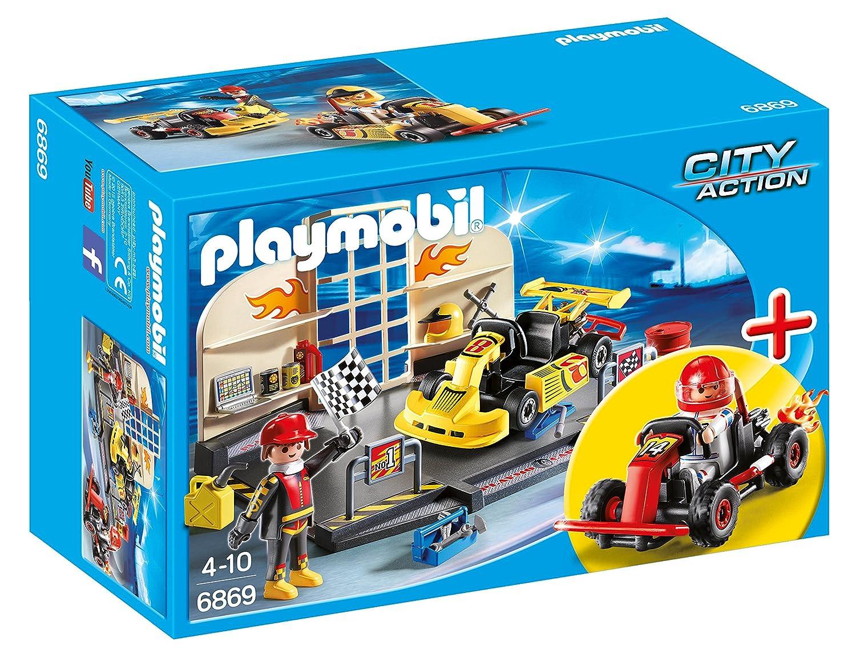 Amazon Com Playmobil Go Kart Garage Toys Games