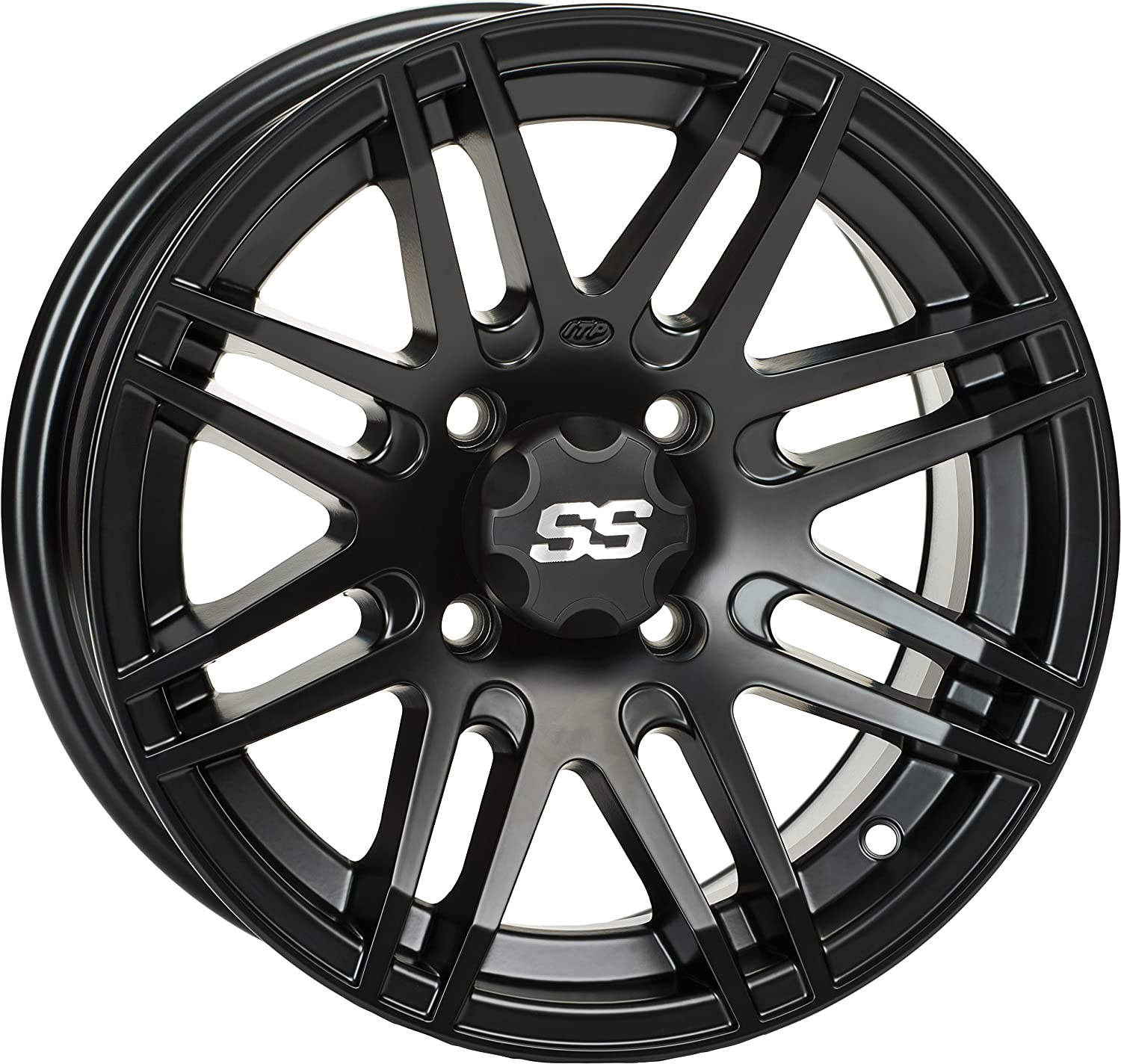 ITP 1428562536B SS ALLOY SS316 Matte Black Wheel with Machined Finish (14x7'/4x156mm)