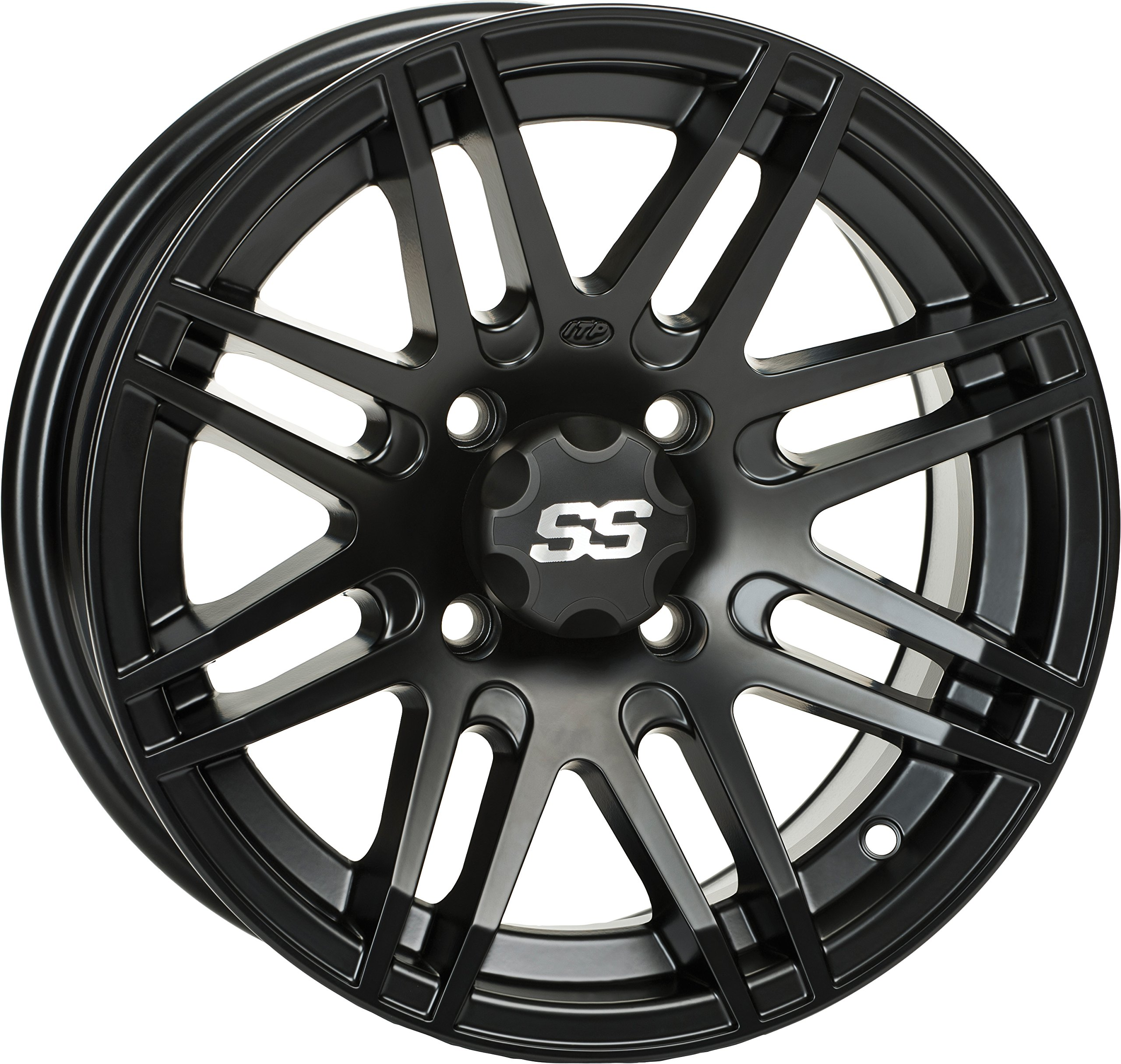 ITP SS ALLOY SS316 Matte Black Wheel with Machined Finish (12x7''/4x137mm)