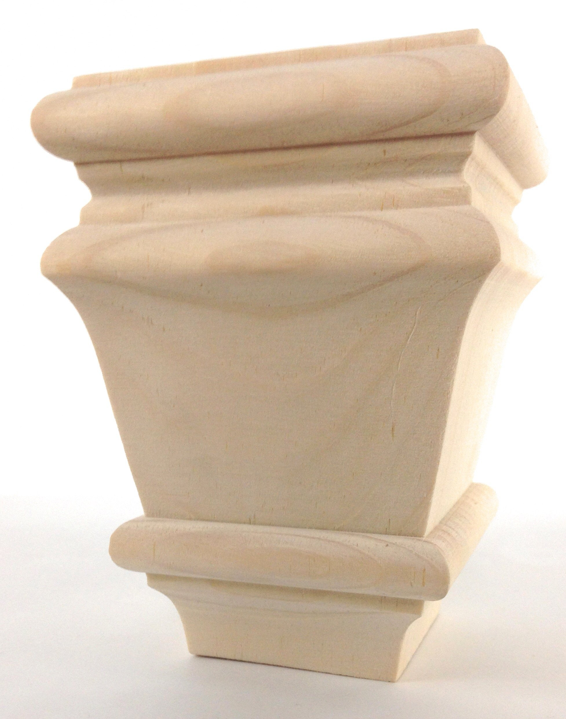 Square Baymont Bun Foot - 4 1/2'' tall x 3 3/8'' Wide (Pine)