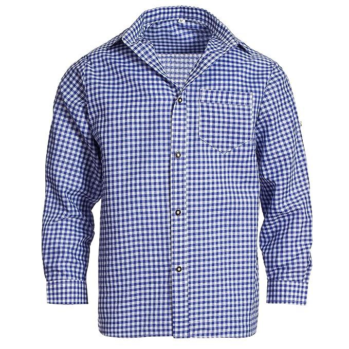 Gaudi Leathers Camisa de traje típico bávaro/tirolés para hombre ...