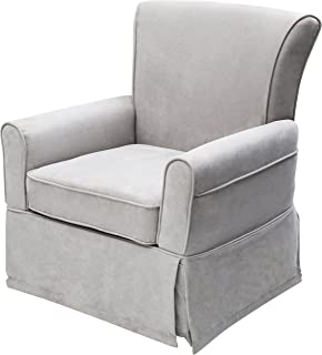 delta furniture benbridge upholstered glider swivel rocker chair dove grey