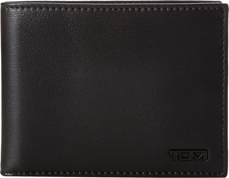 Tumi Men's Delta Global Double Billfold Wallet Black One Size Tumi Men's Accessories 118633