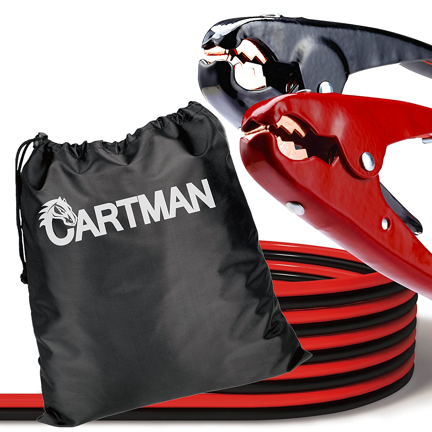 Amazon.com: CARTMAN Heavy Duty Booster Cables Jump Cable with Carry ...