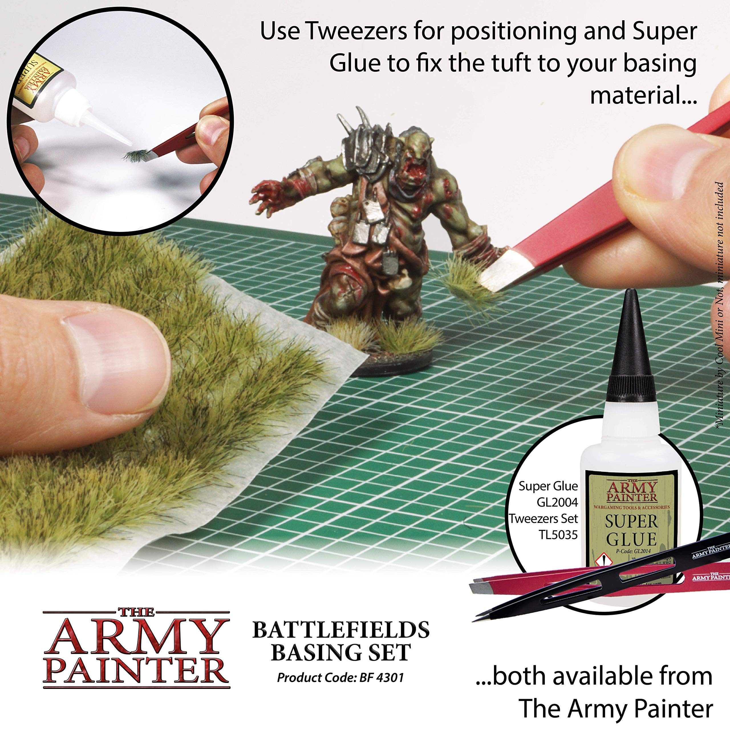 The Army Painter Battlefields Basing Set - Wargamers Terrain Model Kit for Miniature Bases and Dioramas with Landscape Rocks, Scenic Sand, Static Grass, Grass Tufts and Free Basing Glue by The Army Painter (Image #6)