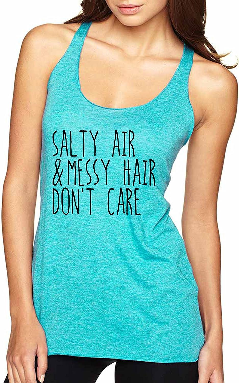 Allntrends Women's Tank Top Salty Air Messy Hair Don't Care Beach Top