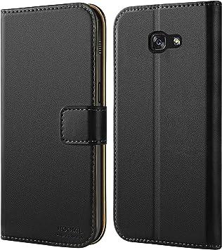 HOOMIL Funda para Samsung Galaxy A5 2017, Funda de Cuero PU Premium Carcasa para Samsung Galaxy A5 2017 (Negro): Amazon.es: Electrónica
