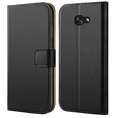 buy popular 119e2 9e251 HOOMIL Galaxy A3 2017 Case Premium Leather Case for Samsung Galaxy A3 2017  Phone Cover (Black)
