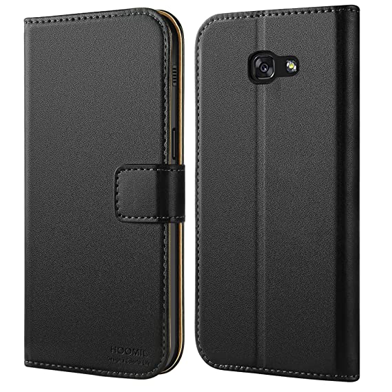 huge discount c1e7f 5838d HOOMIL Case Compatible with Samsung Galaxy A5 2017, Premium Leather Flip  Wallet Phone Case for Samsung Galaxy A5 2017 Cover (Black)