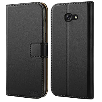 free shipping 2f601 0fceb HOOMIL Galaxy A5 2017 Case Premium Leather Case for Samsung Galaxy A5 2017  Phone Cover (Black)